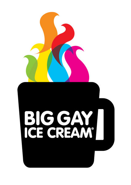 Big Gay Ice Cream coffee logo