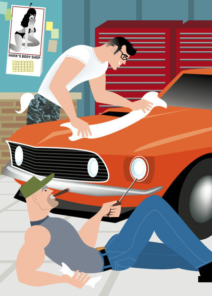 """Muscle Car"" for Handsome Devil Press"