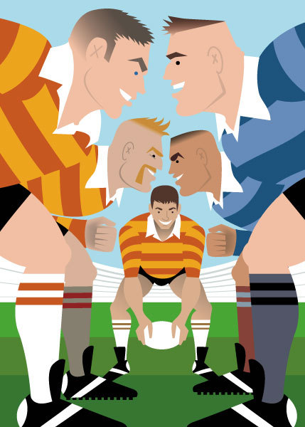 """Rugby"" for Handsome Devil Press"