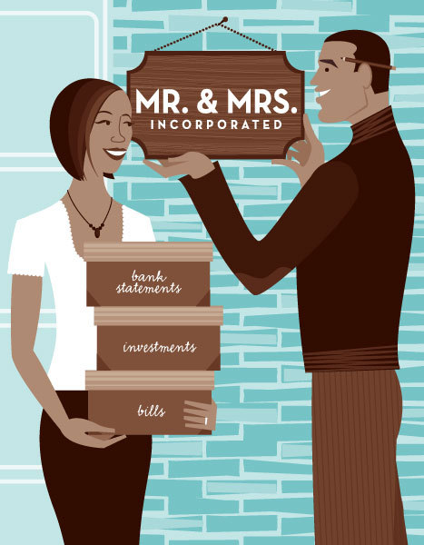 """Mr. & Mrs. Incorporated"" for The Nest Newlywed Handbook: An Owner's Manual for Modern Married Life"