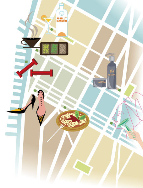 """Chelsea Map"" for German Vogue Magazine"