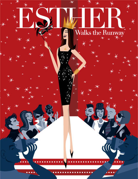 """Esther Walks the Runway Invitation"" for The Jewish Museum"