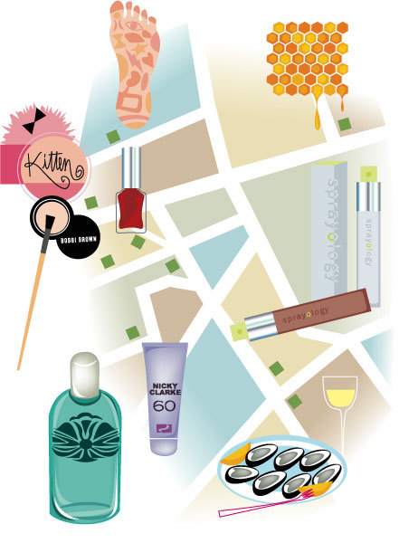 """London Map"" for German Vogue Magazine"