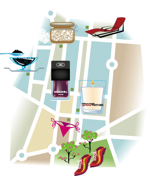 """Madrid Map"" for German Vogue Magazine"