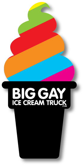 It all started with this simple cone logo I designed for Big Gay Ice Cream when it was a single truck. Now it's grown into multiple bricks and mortar shops (NYC, LA, and Philly), products, and a book.