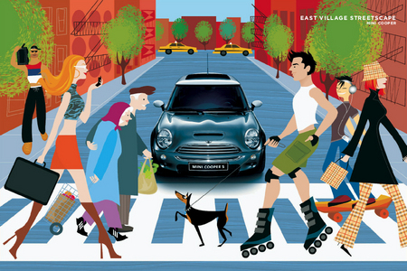 """East Village Streetscape"" for Mini Cooper"